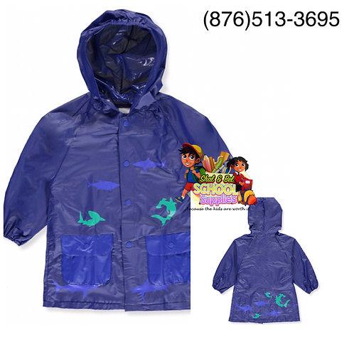 Boys shark rain jacket