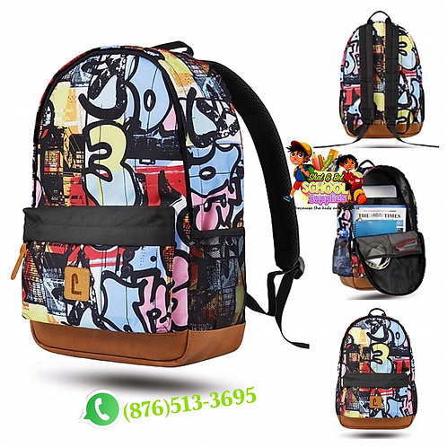 "18"" Graffiti backpack"