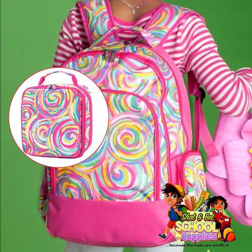 "17""  Girls Candy World backpack set"