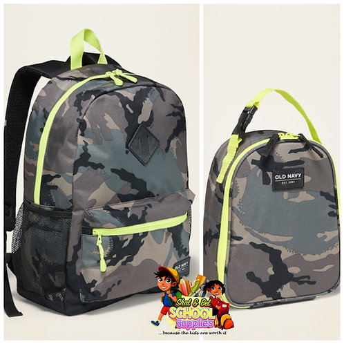 Old navy camo backpack