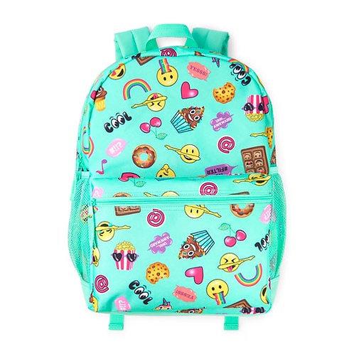 Aqua blue emoji backpack set