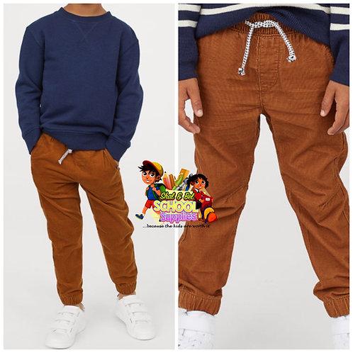 Boys corduroy joggers pants