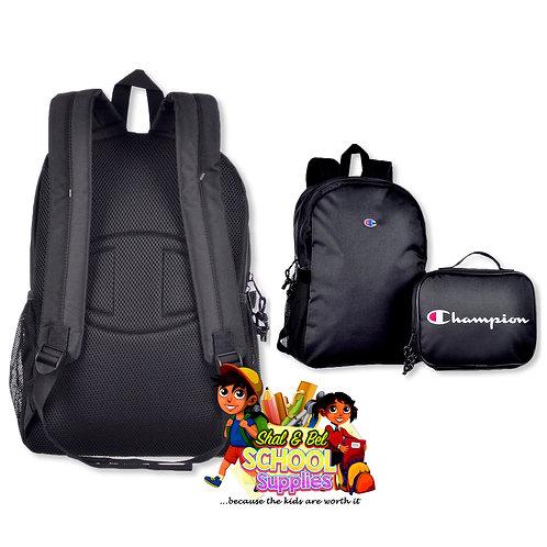 Black Champion backpack set