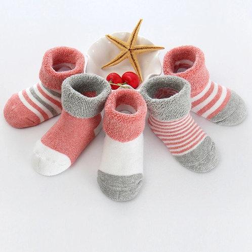 5Pairs/Lot 0-3y Infant Baby Socks Baby Socks for Girls