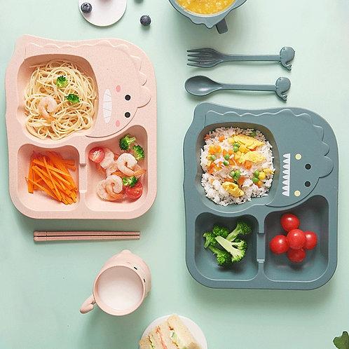 Baby Tableware 6 Pcs Set Kids Dinner Plate