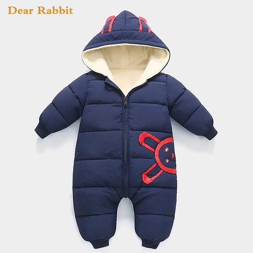 Jumpsuit Baby Newborn Plus Velvet Snowsuit Snow Wear Coat Boy Warm Romper