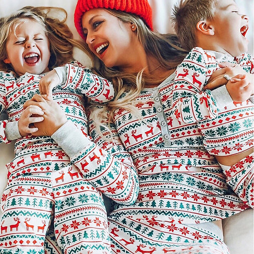 Christmas Pajamas Clothes Sets Family Look Matching 2020 New Year Cotton