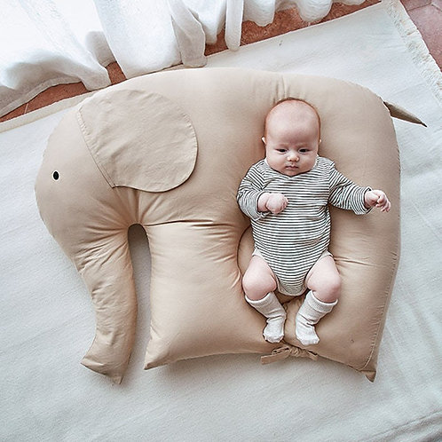 93X70cm Elephant Sleeping Doll for Baby Soothing Artifact Portable Bed