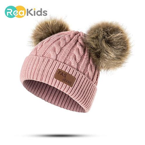 REAKIDS Beanies Baby Hat Pompon Winter