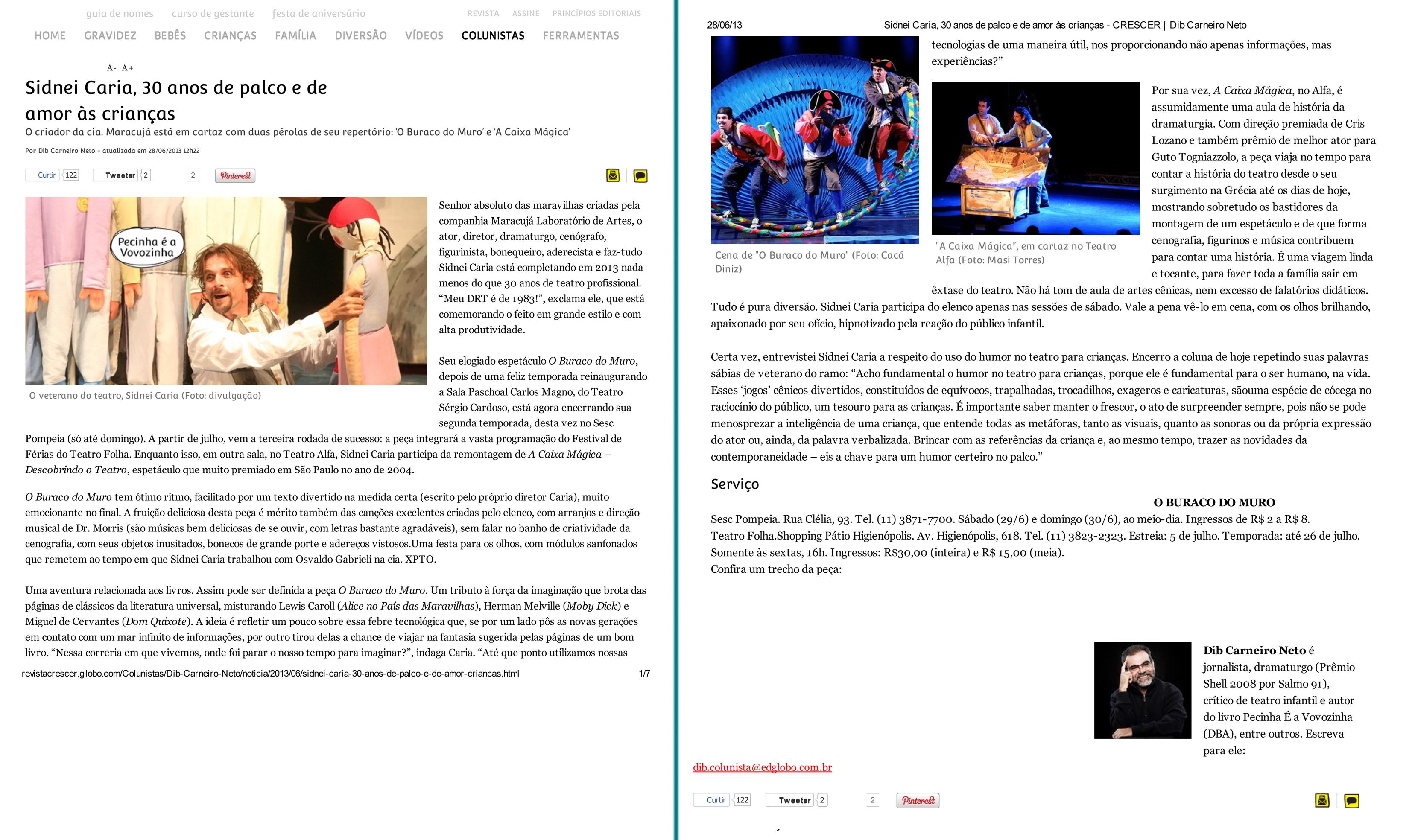 Revista Crescer, 28-06-2013