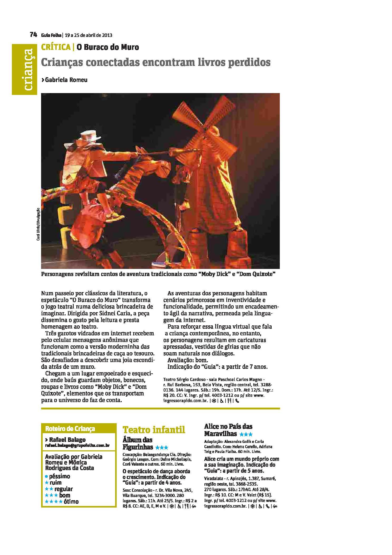 Guia da Folha SP, 19-04-2013
