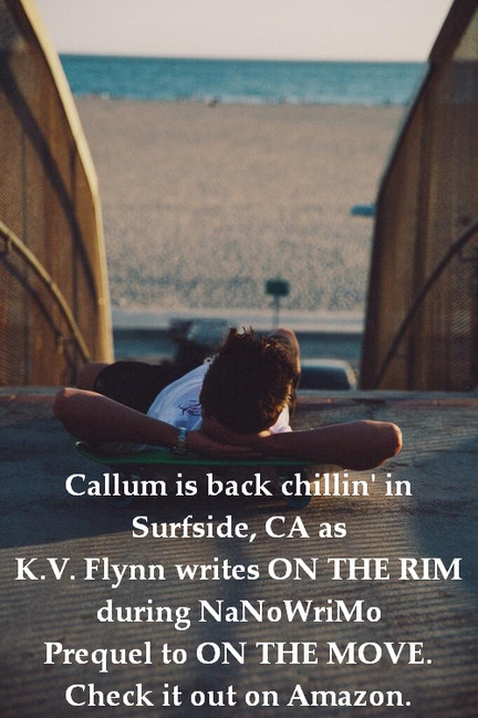Where's K.V. Flynn...? Working on ON THE RIM during NaNoWriMo
