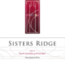 2017 Sisters Ridge Pinot Noir Front Labe