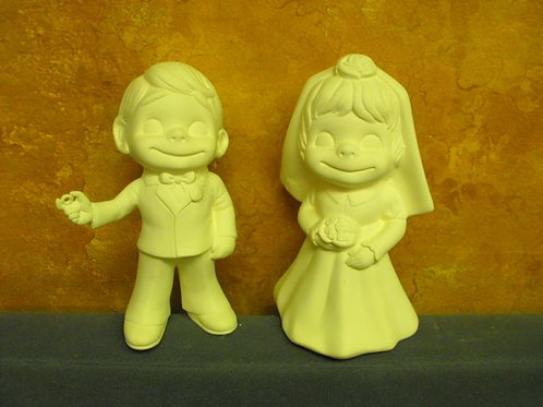 Smiley Bride and Groom
