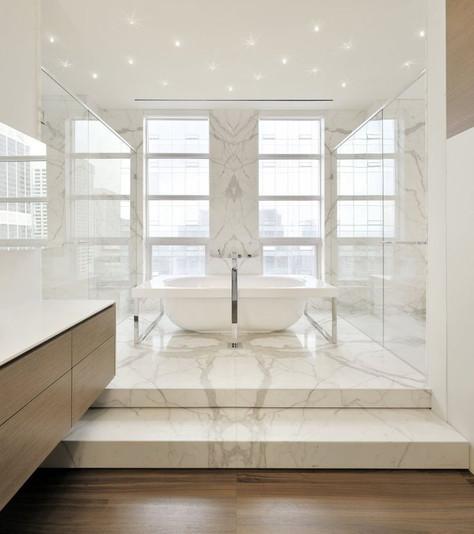 Le marbre blanc c'est tendance !