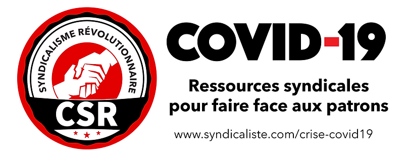 Ressource face à la crise Covid-19 (comités syndicalistes révolutionnaires)