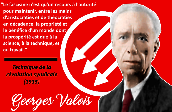 Georges Valois, citation antifasciste