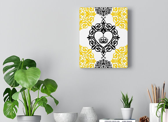 Black And Yellow Hairdresser Canvas