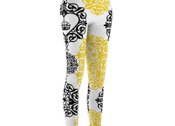 Women's Black and Yellow Hairdresser Leggings