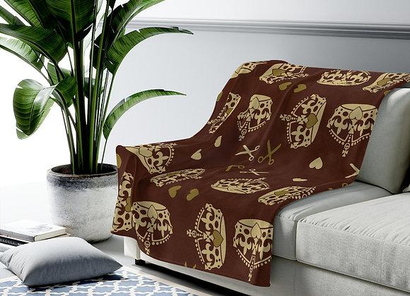 Majestic Brown Velveteen Plush Blanket