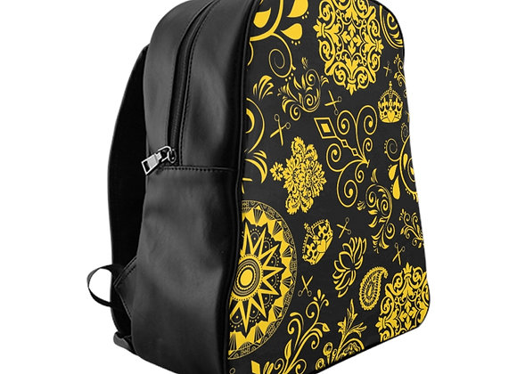 Black and Yellow Paisley Backpack