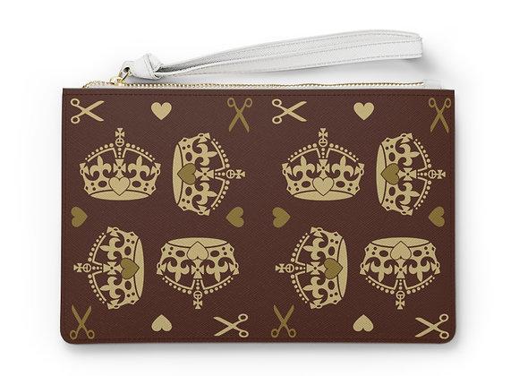 Majestic Brown Clutch Bag