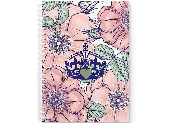 """Pink Floral"" Spiral Notebook"
