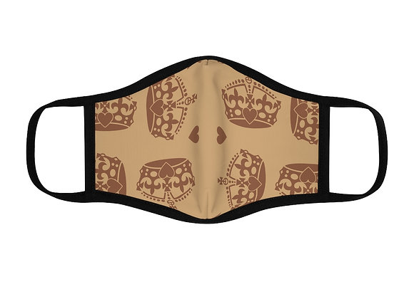 """Royal Tan"" Fitted Face Mask"