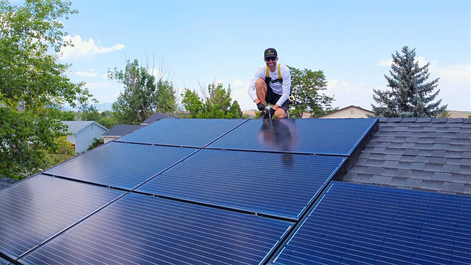 Solar removal and reinstall for a residential solar system. Solar panels. Solar panels colorado. Solar panels westminster.