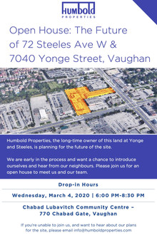 Humbold Properties Yonge & Steeles Development