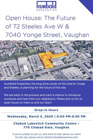 Humbold Properties Yonge & Steeles Development