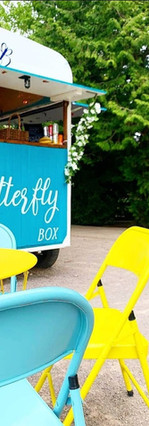 Seating area at The Butterfly Box