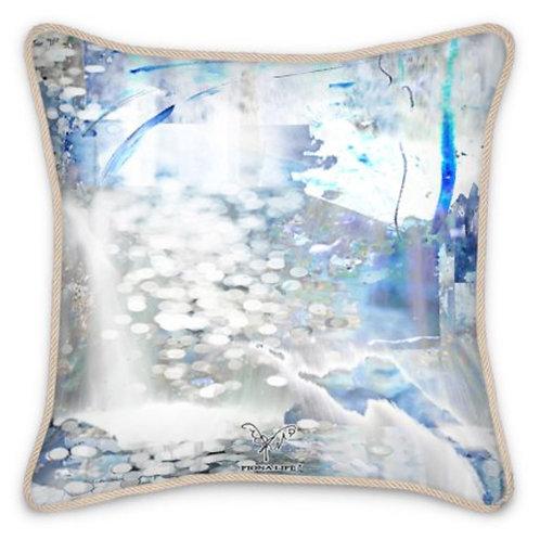 Snow Waterfall Silk Cushion