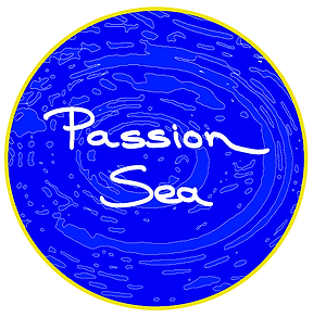 passion sea, logo, charity, blue, water
