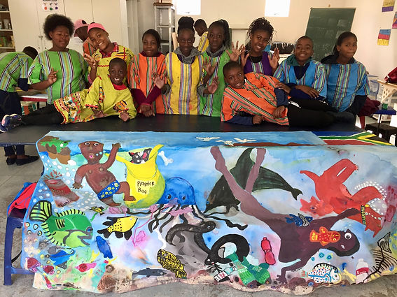 Artwork by the Imibala students of Imibala Trust working for disadvantaged children in South Africa