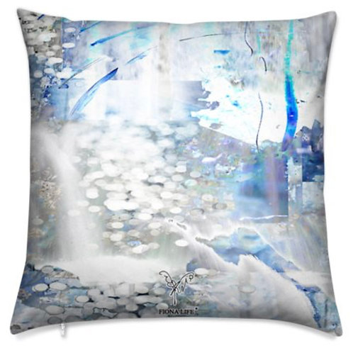 Snow Waterfall Outdoor Pillow