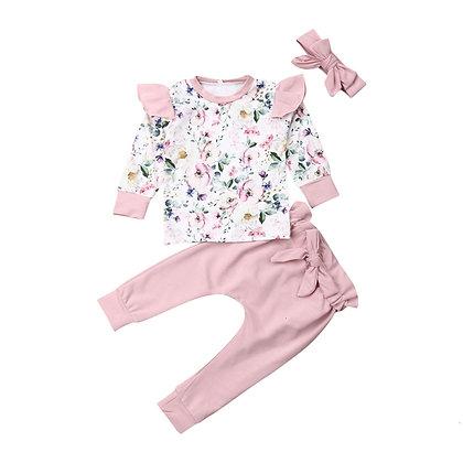 Pink Floral 3pc Set