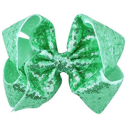 Mint Sequins Bow