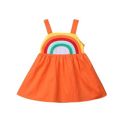 Sky Blue Rainbow Dress