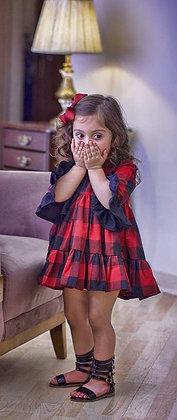 Plaid Love Ruffle Dress