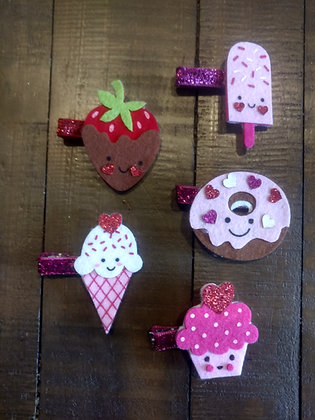 My Love Of Food Heart Clips