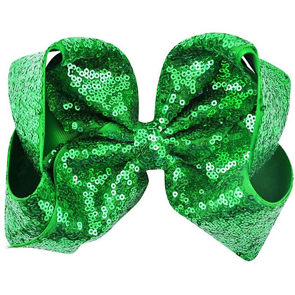 My Green Sequins Bow