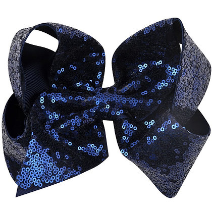 Navy Sequins Bow