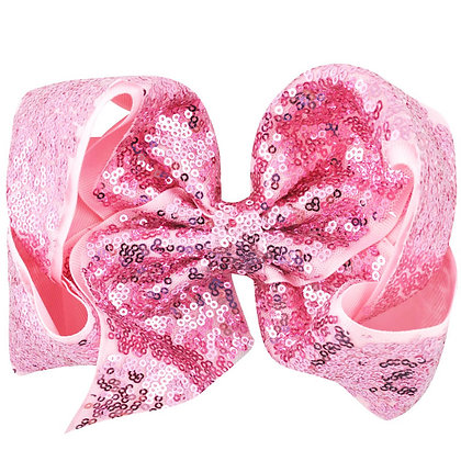 Pink Sequins Bow