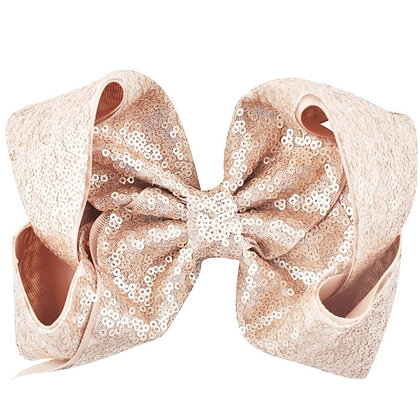 Blush Sequins Bow
