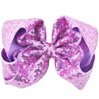 Summer Purple Sequins Bow
