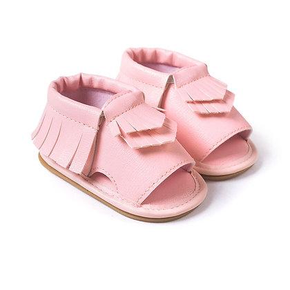 Blush Pink Moccasin Sandal