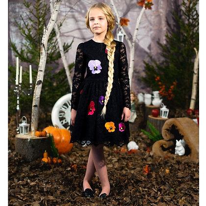 My Black Lace Floral Dress