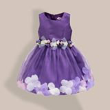 Purple Petals Flower Dress