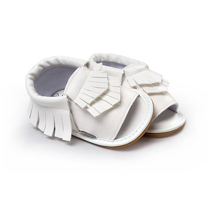 White Moccasin Sandal